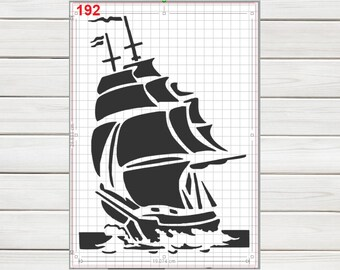 Durable /& Reusable Mylar Stencils The Ocean Is Calling Sailing Stencil
