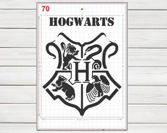 Harry Potter Gryffindor House Emblem Stencil MYLAR A4 sheet strong reusable Deco