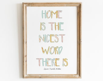 Home is the nicest word there is quote- Instant Download