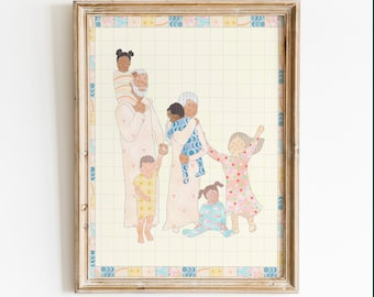 Your Little Ones Quilt Illustration- Instant Download