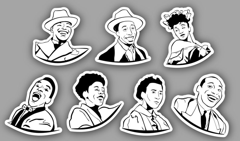 Whitey's Lindy Hoppers Sticker Pack  Lindy Hop Dancers image 0