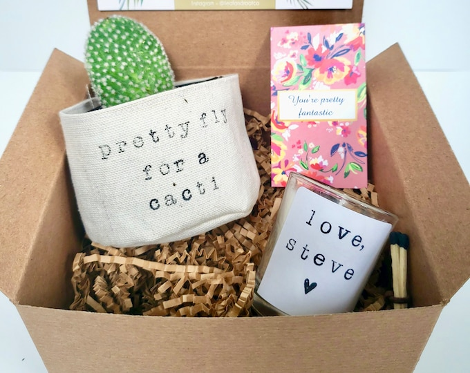 Pretty Fly for a Cacti gift box PLANT NOT INCLUDED best friend gift box funny gift box Care package for her
