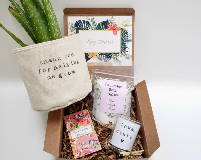 Thank you for helping me grow gift for grandmother PLANT NOT INCLUDED Mother/'s Day Gift Box gift for mom