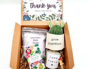 """Grow Together 2"""" planter gift box   PLANT INCLUDED   Thank you gift box   Best friend gift box   gift for her   care package gift box"""