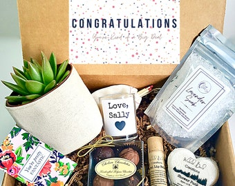 """Custom 3"""" planter gift box   3"""" PLANT INCLUDED   best friend gift box   Care package for her   Congratulations Gift Box"""