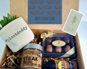 """Funny Father's Day Gift Box   3"""" PLANT INCLUDED   Gift box for him   3"""" #plantdaddy"""