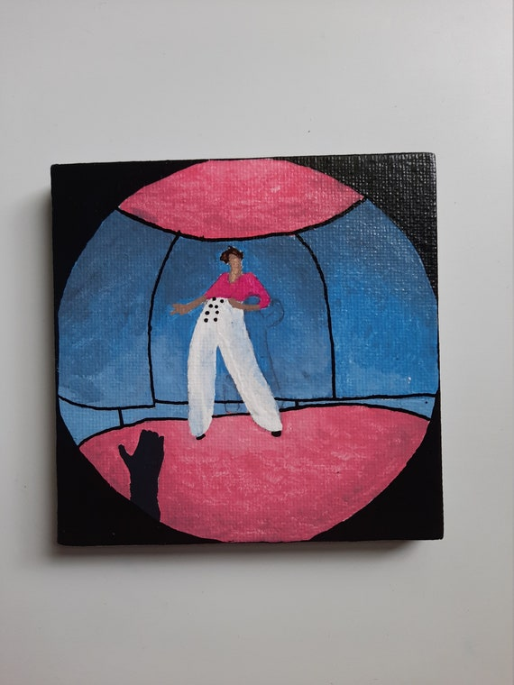 Hand Painted Harry Styles Fine Line Album Cover Canvas Etsy