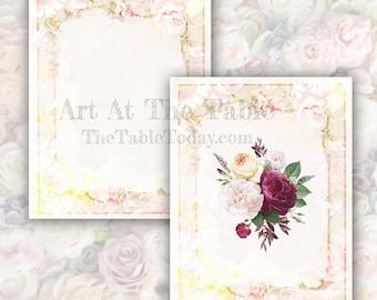 FLOWER FRAMES 13 High-Quality Resizable Digital Designs.  Digital Download. Printable. Junk Journal, Collage. Etc,