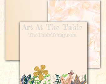 CONTEMPORARY FLORAL 20 High Quality Digital Paper Designs. Resizable. Download. Printable.