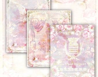 BELLA ROSE 24 High-Quality Digital Designs. Resizable. Decorative Paper. Digital. Download. Junk Journal.