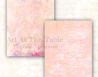 """PINKY 14 High-Quality Resizable Digital Paper Designs in a Textured """"Pinky"""" Theme. Download. Printable. Junk Journal, Etc.."""