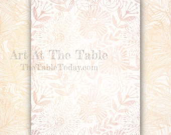 CONTEMPORARY BOTANICALS 11 High-Quality Resizable Digital Paper Designs. Includes 8 8.5x11 Designs, 3 11x8.5 Designs