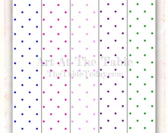 POLKA DOTS 10 High- Quality Resizable Digital Paper Designs. This collection is great alone or as an add-on to others.