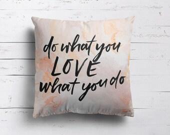 Script Penmanship Writing Pillow Cover