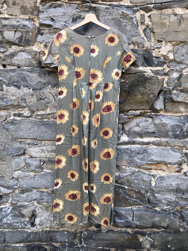 90s vintage sunflower maxi dress