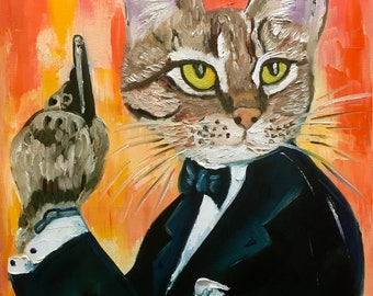 Troy The Cat James Bond