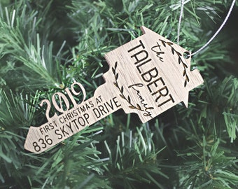 DIGITAL FILE ONLY  First Christmas Home Key Ornament (includes 2019 to 2025 files