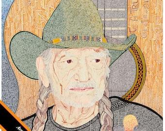 """Willie Nelson """"To a True Gentleman"""" 20x24"""" Print"""