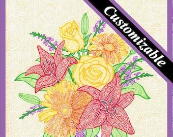 "Fresh Flowers ""Personalized"" - 8 x 10"" Print"