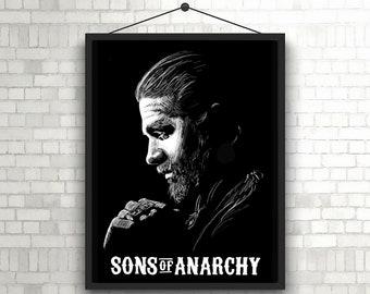 Jax Teller 8x10 Minimalist Sons of Anarchy SOA TV Television Movie Film Artwork Print Poster Character Portrait