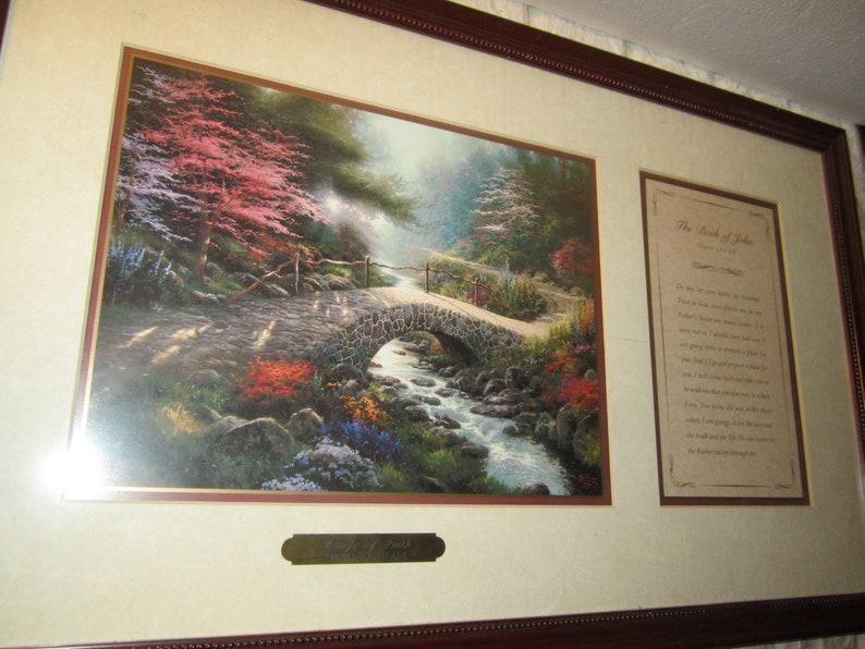 Thomas kinkade bridge of faith print with COA