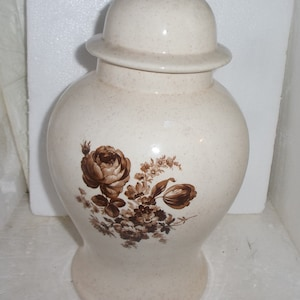 Dominic Blue glass with brass pedetal urn vase with lid