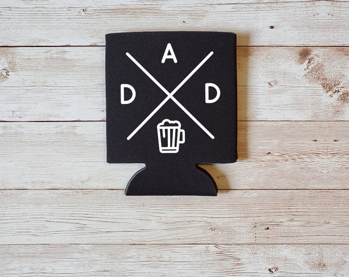 D A D Beer Koozie Father's Day Gift