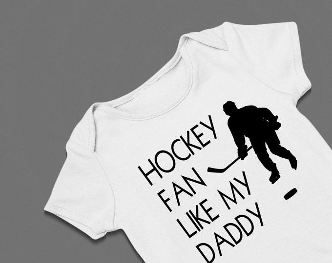 Hockey Fan Like My Dad Onesie Carter's Bodysuit Father's Day Lots of Colors Available
