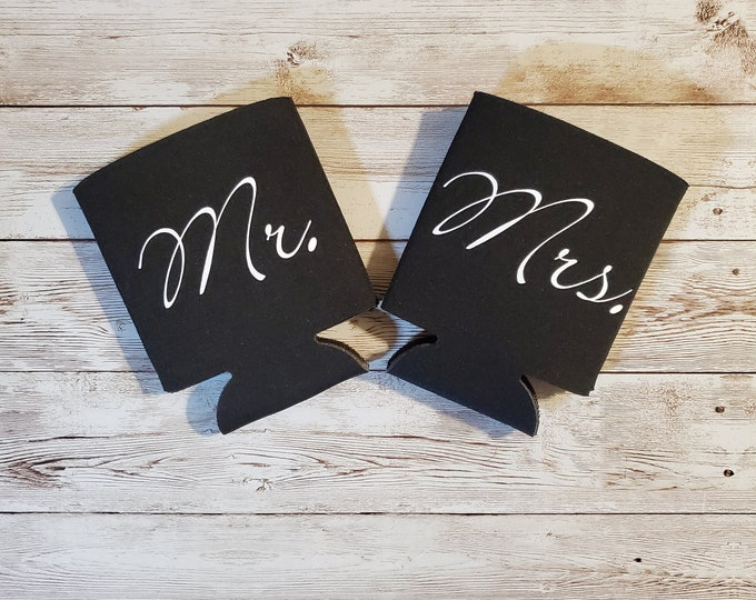 Mr and Mrs Set of 2 Matching Koozie