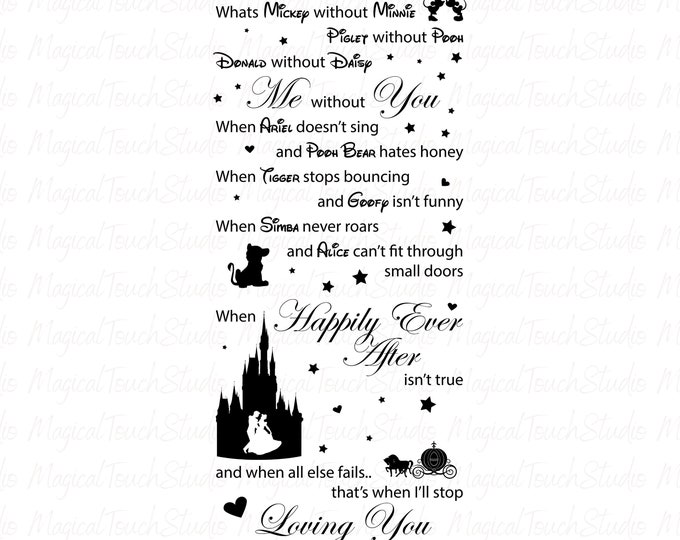 Mickey Minnie Disney Happily Ever After Wall Window Decal