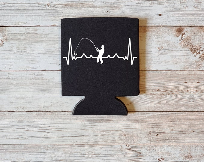 Heartbeat Fishing Koozie