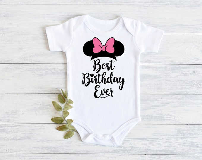 Disney Minnie Mouse Best Birthday Ever Onesie Carters Bodysuit