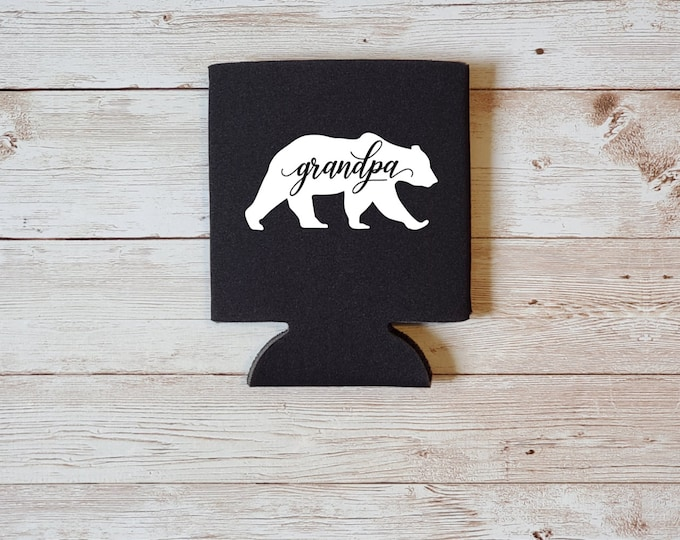 Grandpa Bear Koozie Father's Day Gift