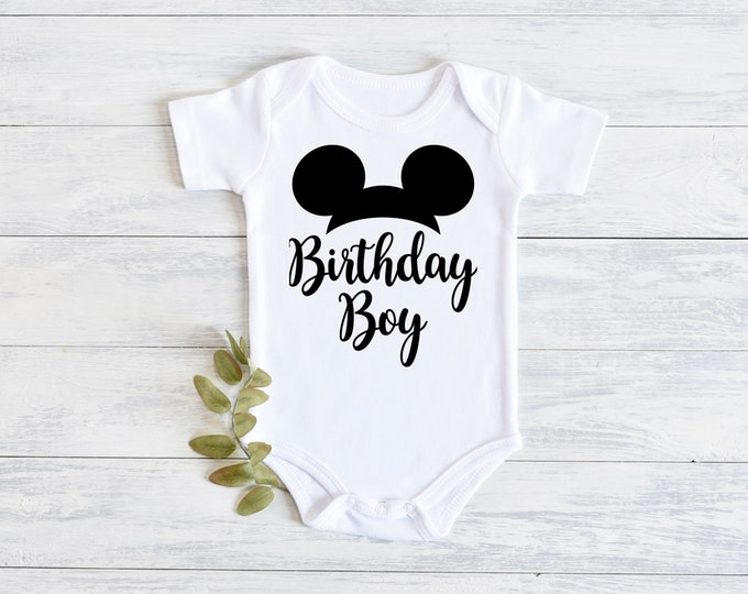 Disney Mickey Mouse Birthday Boy Onesie Carters Bodysuit