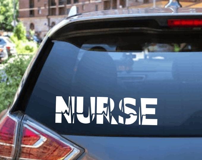 Nurse Heartbeat Car Window Decal