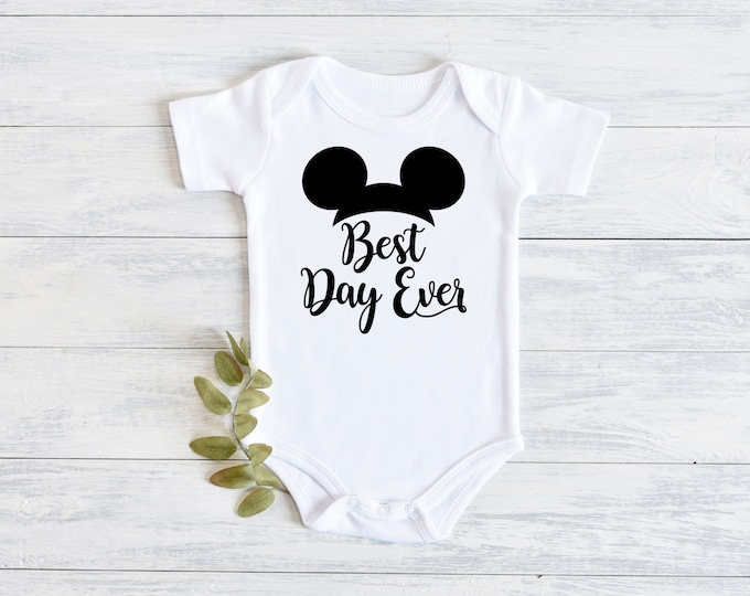Disney Mickey Mouse Best Day Ever Onesie Carters Bodysuit