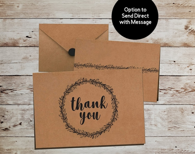 Thank You Card Send Direct With Message Personalize