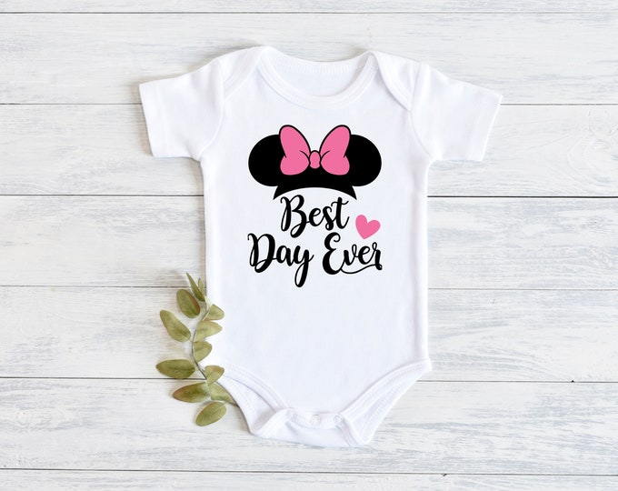 Disney Minnie Mouse Best Day Ever Onesie Carters Bodysuit
