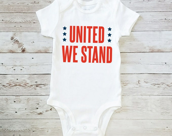 United We Stand Onesie Carter's Bodysuit Glitter Available