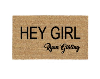 Ryan Gosling Doormat Etsy