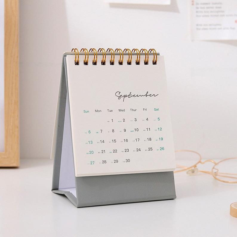 2021 Mini Desk Calendar Cute Colorful Calendar Planner | Etsy