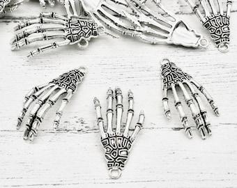 10 X Skeleton Hand Charms