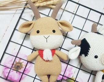 Goat Lisa - Amigurumi Crochet Pattern / PDF e-Book / Stuffed ... | 270x340