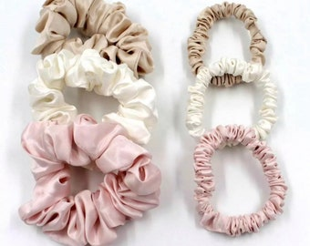 Liberty of London Grand Pure Soie Hair Scrunchies handmade in UK