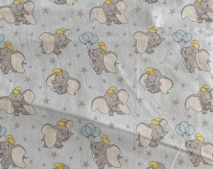 Dumbo Fabric - Disney Fabric - By the 1/4 Yard - Quick Shipping - Perfect for Mask Making