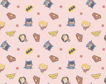 DC Girl Heros Fabric - Girl Hero Fabric - By the 1/4 Yard - Quick Shipping - 100% Cotton Fabric - Quilting Fabric - Comic Book Fabric