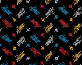 Wonder Woman Fabric - By the 1/4 Yard - Black Wonder Woman Fabric- Super Hero Fabric - Quick Shipping  ** LIMITED EDITION**