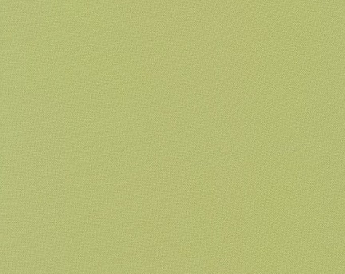 Tarragon Kona Cotton Fabric - By the 1/4 Yard - Quick Shipping - Perfect for Mask Making - Light Green Kona Cotton Fabric