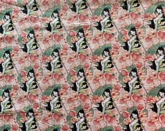 Mulan Fabric - Disney Fabric - By the 1/4 Yard - Quick Shipping - Disney Princess Fabric - Perfect for Mask Making