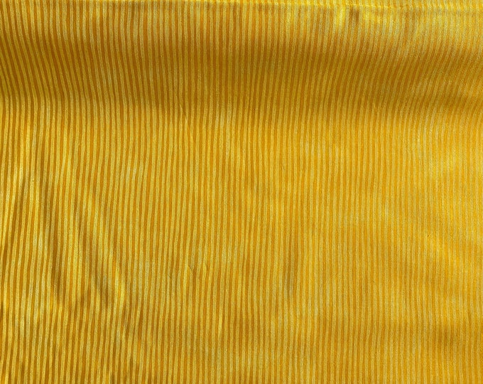 Yellow Stripe Fabric - Bright Yellow Fabric - Small Stripe Fabric - By the 1/4 Yard - Quick Shipping - Perfect for Mask Making